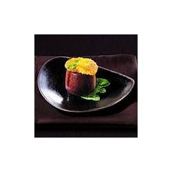 assiette dessert marron