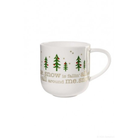 "mug avec anse COPPA ""snow is falling"""