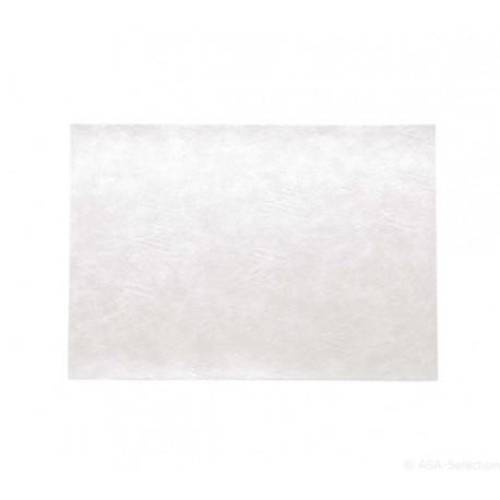 SET pvc imitation cuir blanc