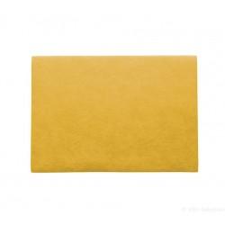 SET pvc imitation cuir jaune