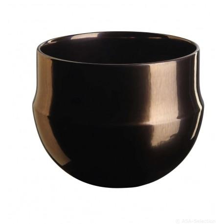 Cache pot en céramique bronze 15,5cm