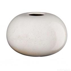 Vase SAISONS rond en grés Sand 12,5 cm